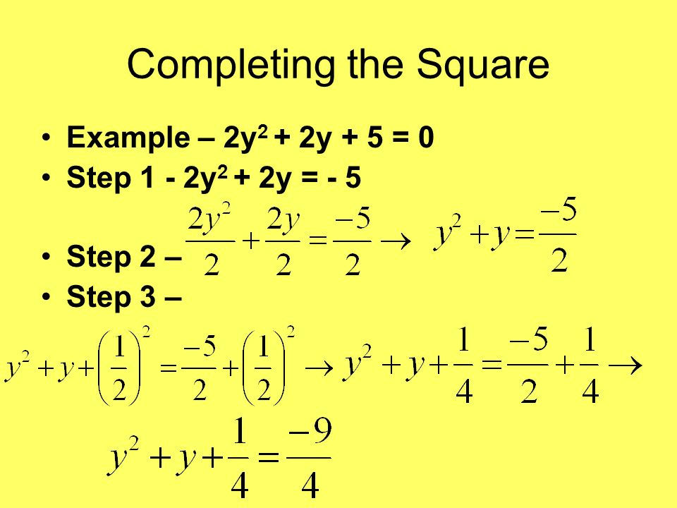 Solving Quadratic Equations By Completing The Square - Tessshebaylo