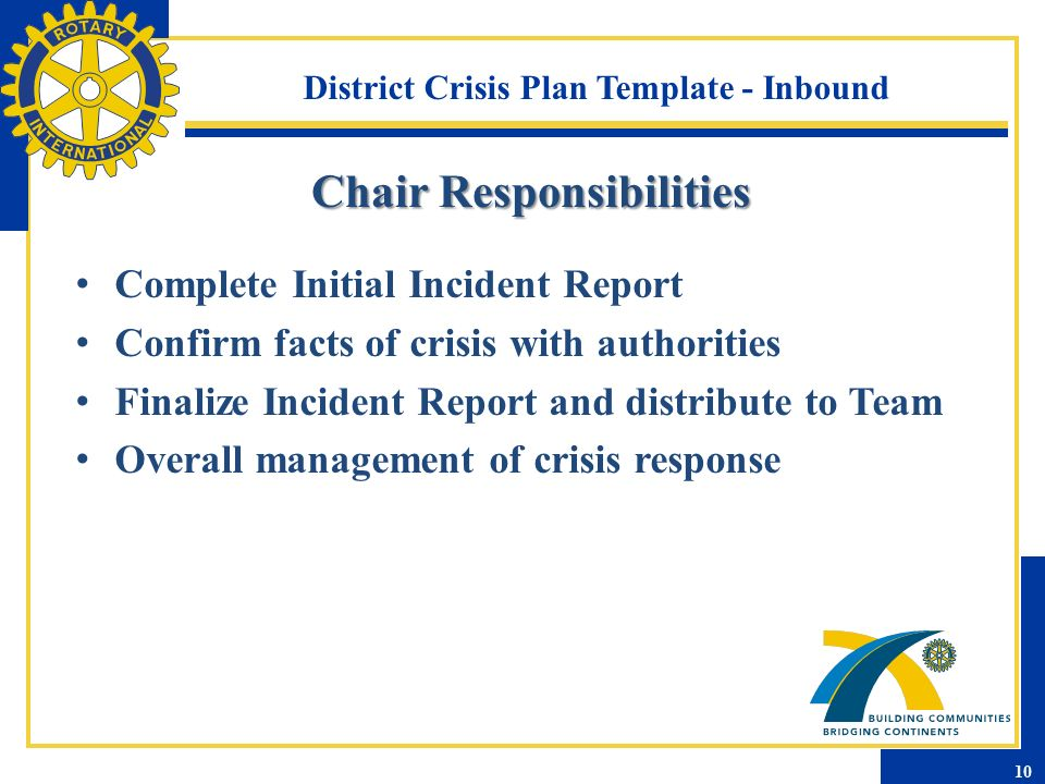 crisis plan template