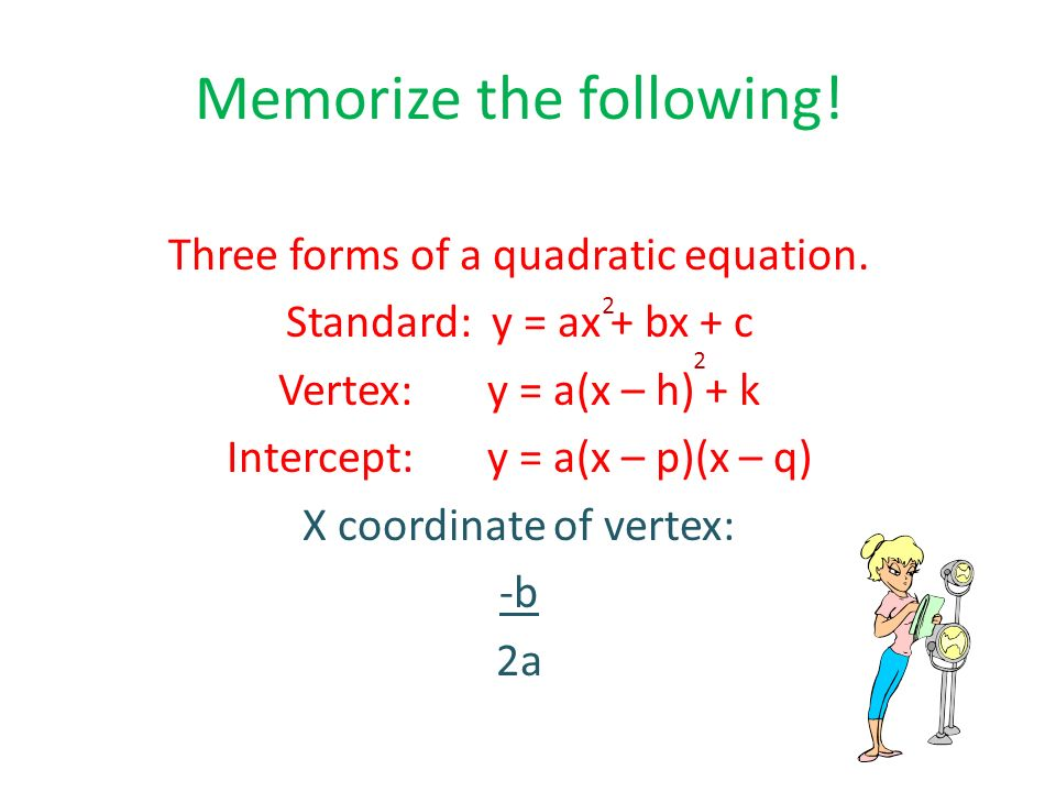 Quadratic Equations In Standard Form - Tessshebaylo