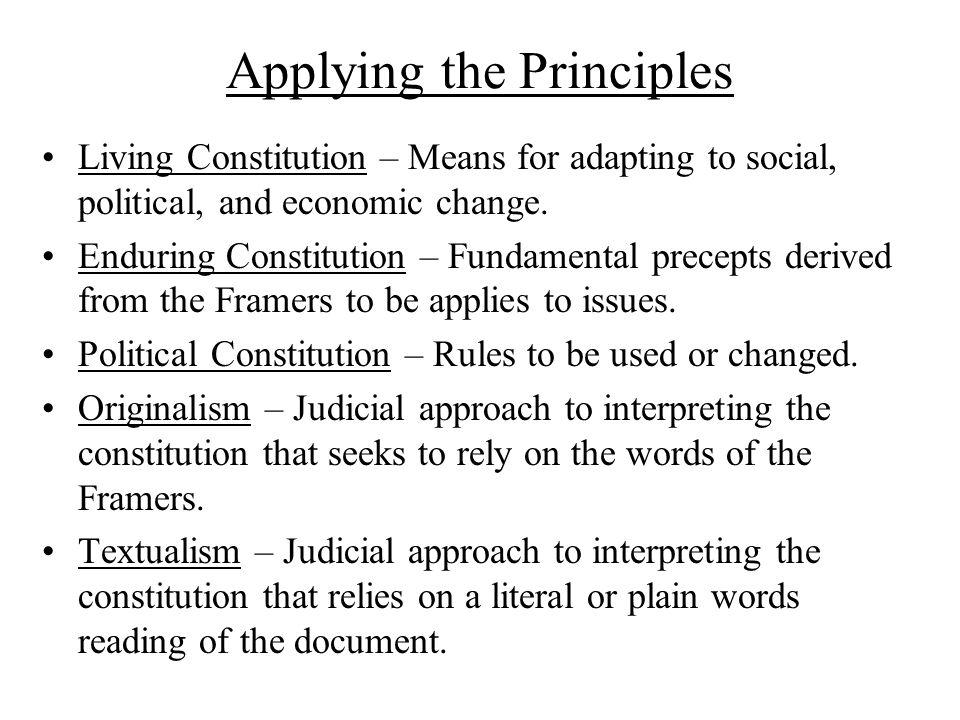 Living Constitution essay?
