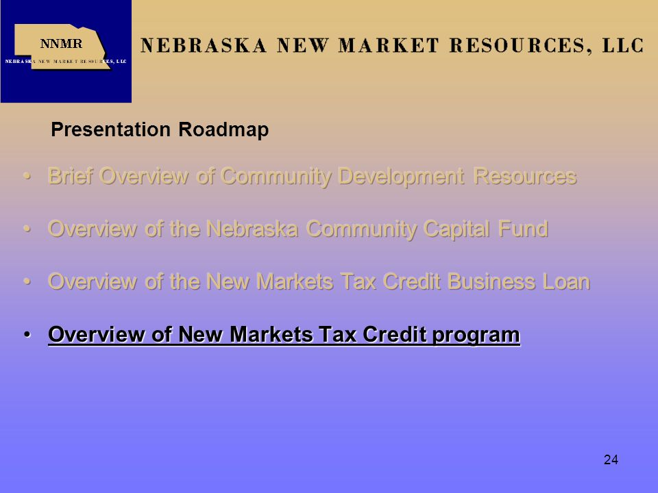 Rural Nebraska Funding Opportunities Workshop Presentation - Roadmap of nebraska