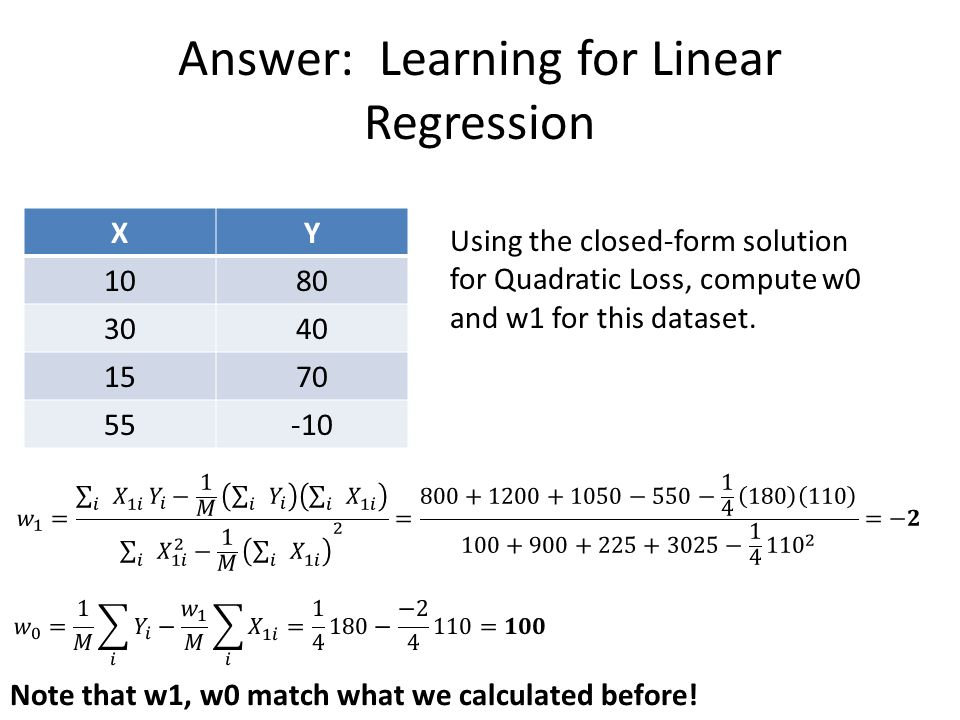 More Machine Learning Linear Regression Squared Error L1 and L2 ...