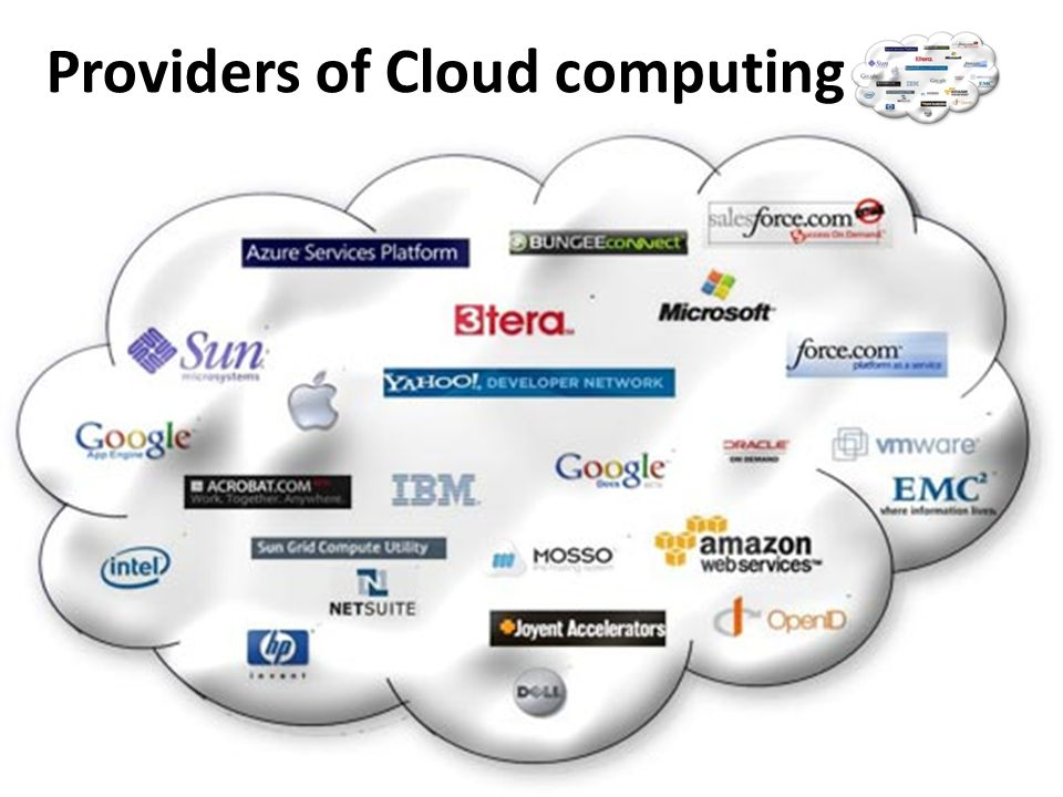 Providers of Cloud computing