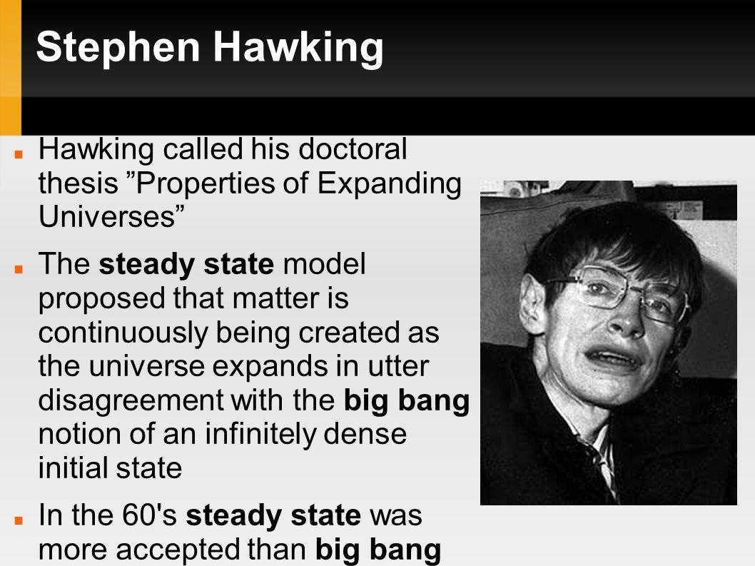 Hawking phd thesis