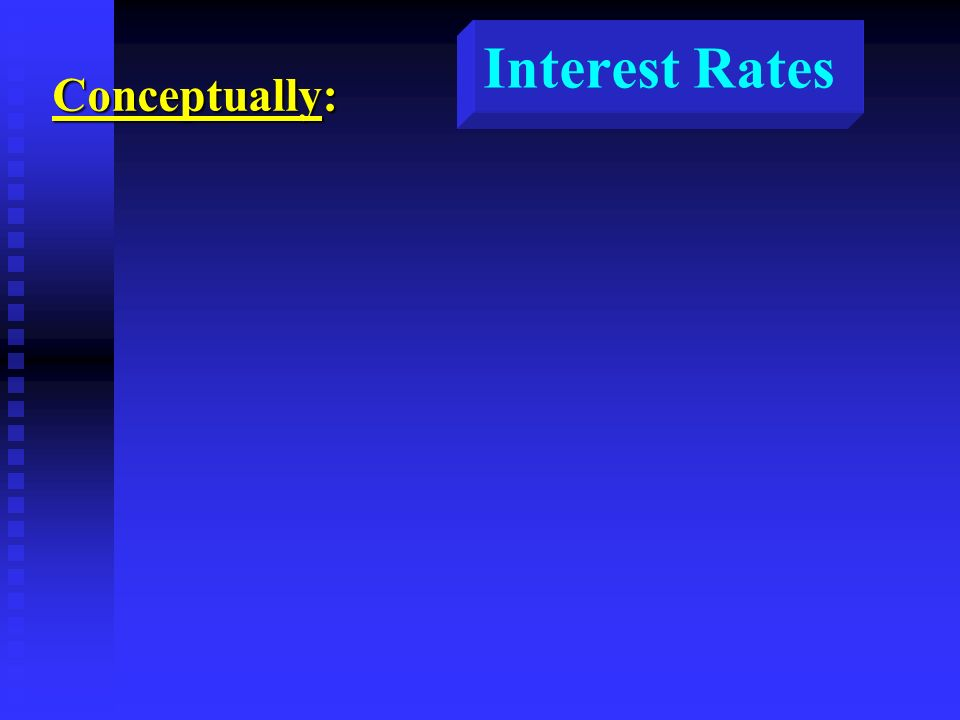 Interest Rates Conceptually: