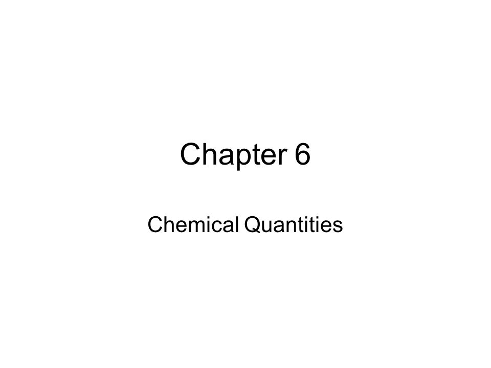 Chapter 6 chemical quantities how you measure how much you can 2 ccuart Images
