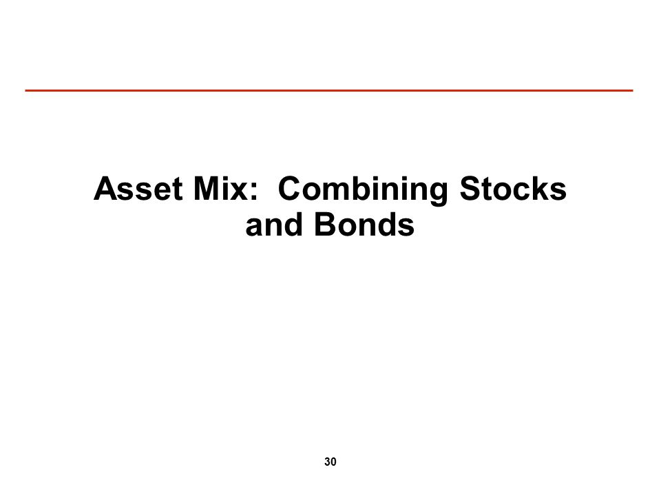 30 Asset Mix: Combining Stocks and Bonds
