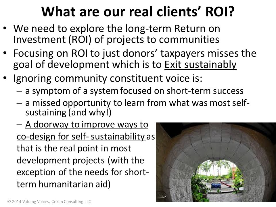 What are our real clients' ROI.
