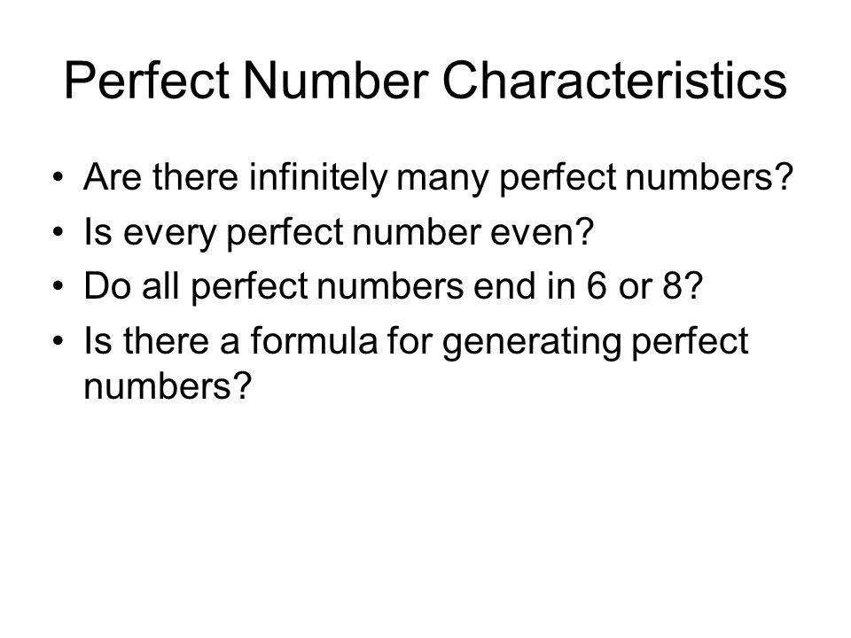 perfect number formula