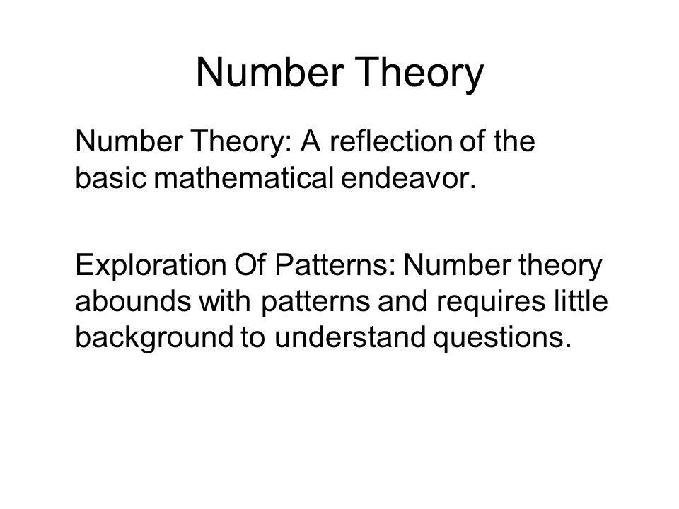 Number theory number theory a reflection of the basic mathematical 3 number publicscrutiny Image collections