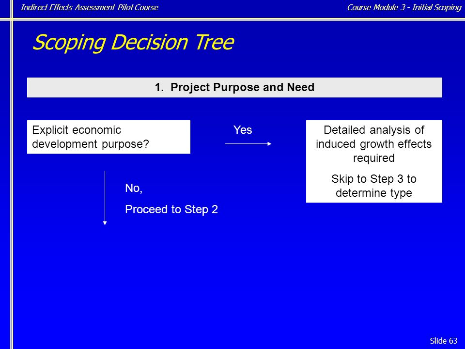 Indirect Effects Assessment Pilot Course Slide 63 1.