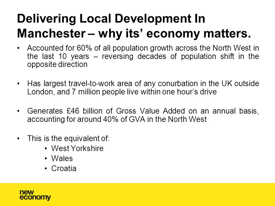 Delivering Local Development In Manchester – why its' economy matters.