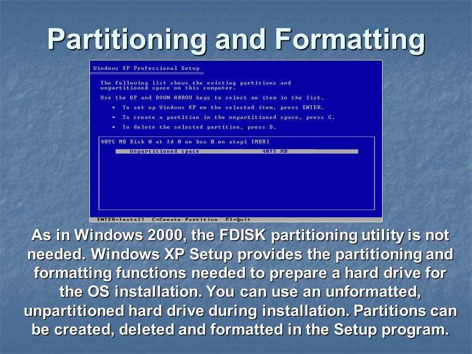 Fdisk windows xp