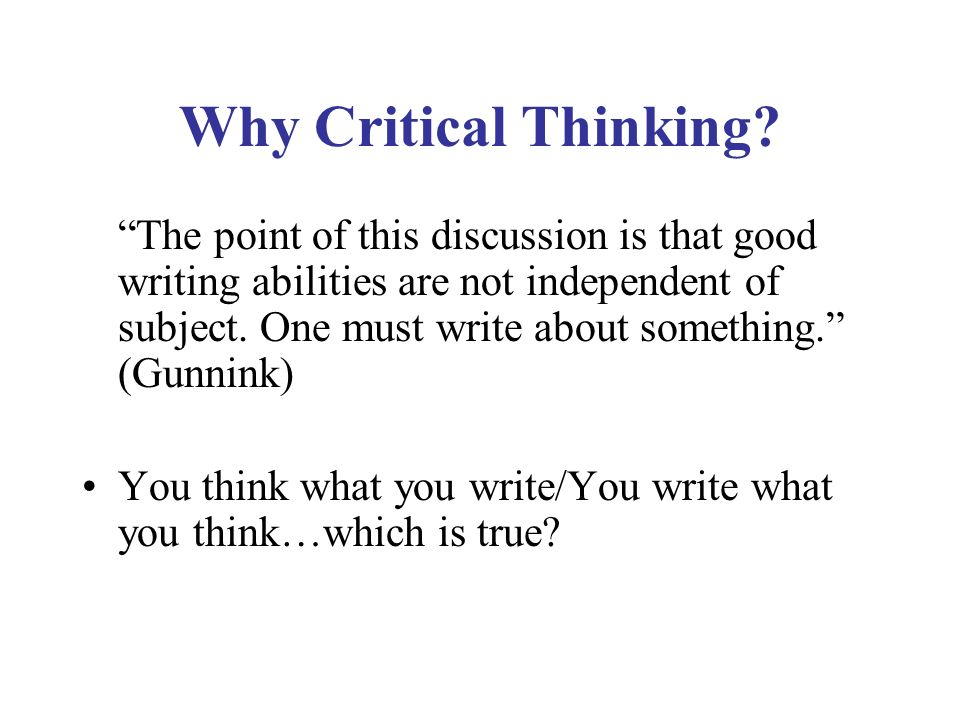 Reading and writing for critical thinking international consortium      Reading and writing for critical thinking project