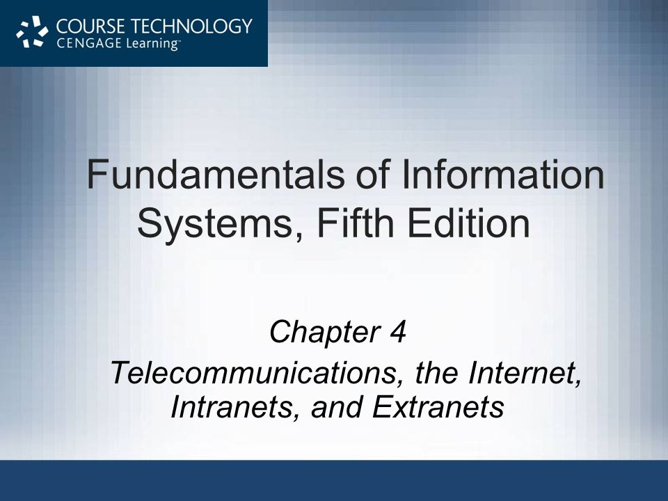 Fundamentals of Information Systems, Fifth Edition3 Use and Functioning of the Internet Internet –Collection of interconnected networks, all freely exchanging information ARPANET –Ancestor of the Internet –A project started by the U.S.
