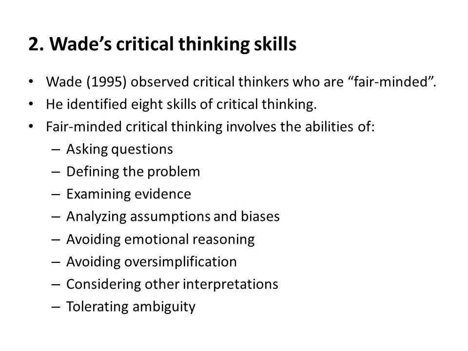 Emotional Regulation Skills Assumptions And Critical Thinking - image 2