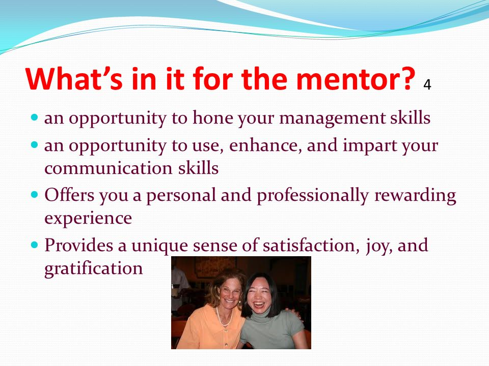 What's in it for the mentor.