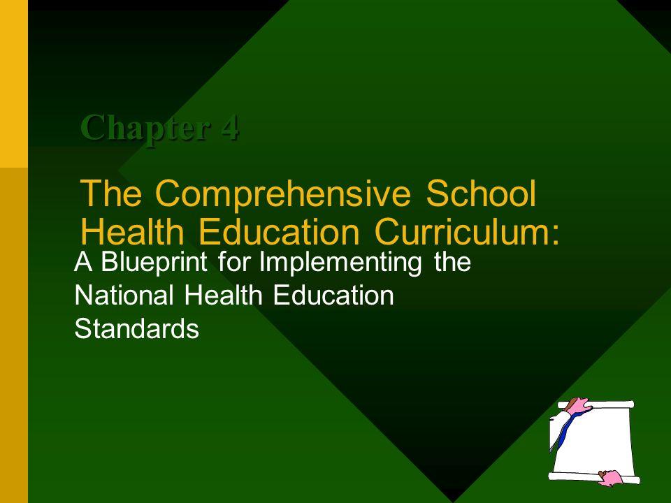 The comprehensive school health education curriculum a blueprint 1 the comprehensive school health education curriculum a blueprint for implementing the national health education standards chapter 4 malvernweather Choice Image
