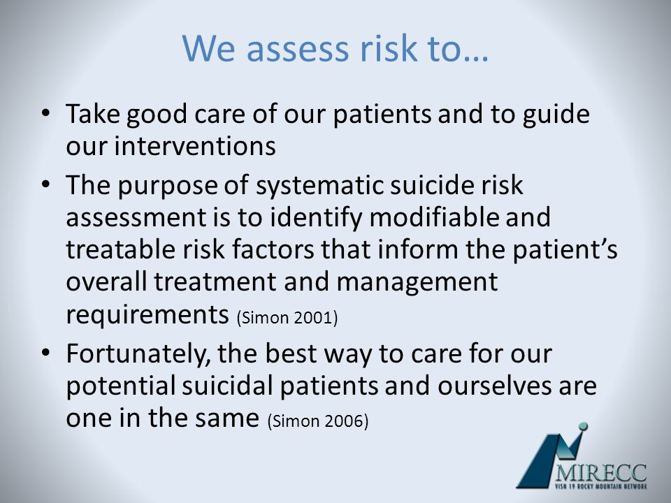 suicide risk assessment guide