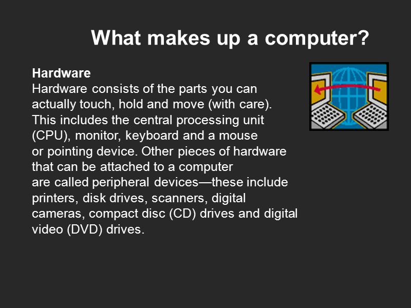 What makes up a computer.