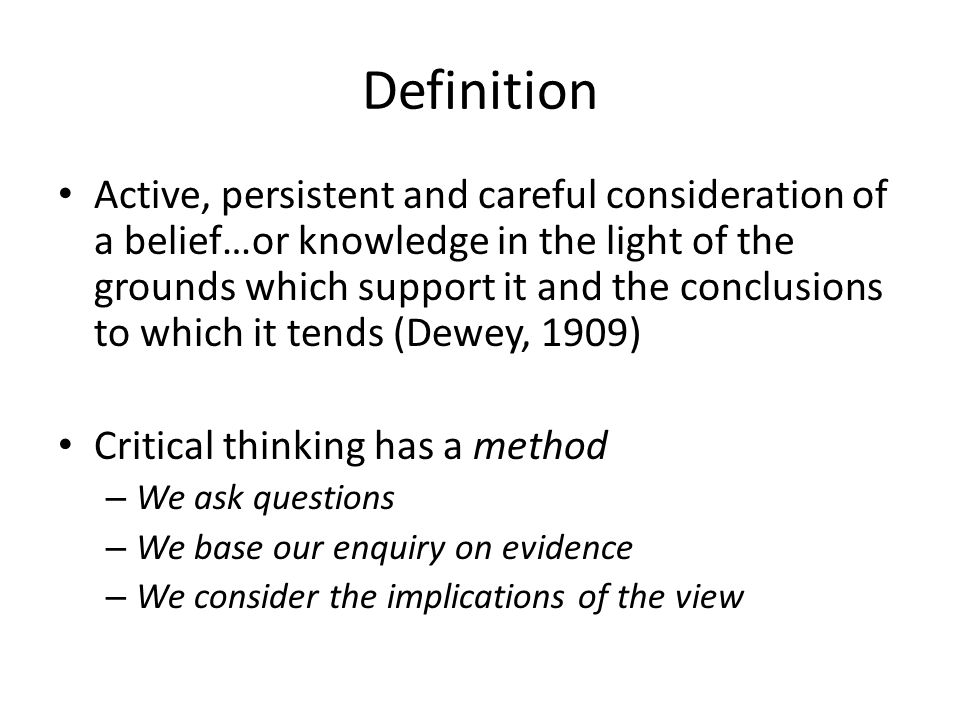 Definition Of Argument In Critical Thinking