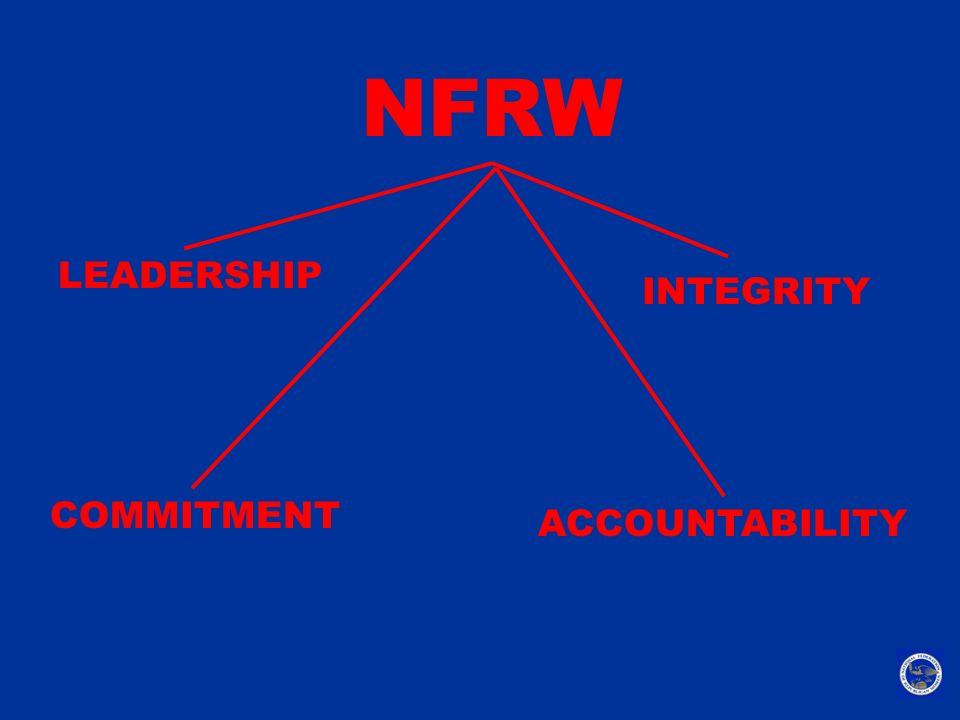 NFRW LEADERSHIP ACCOUNTABILITY INTEGRITY COMMITMENT