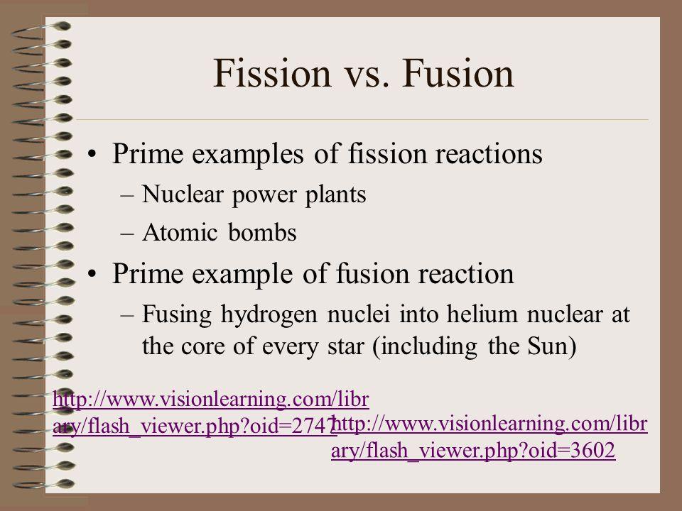 Fission vs.