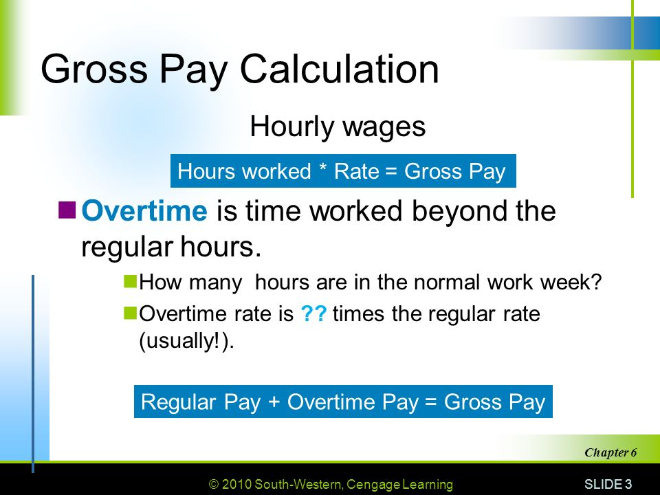 Chapter 2010 South Western Cengage Learning Pay Benefits And