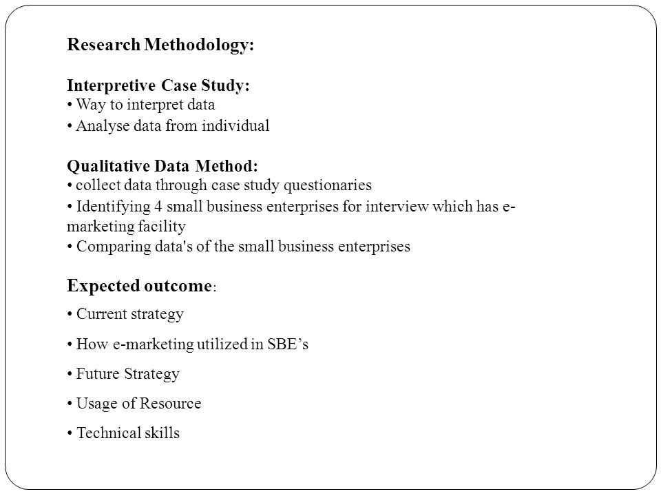 Write my case study methodology in business research