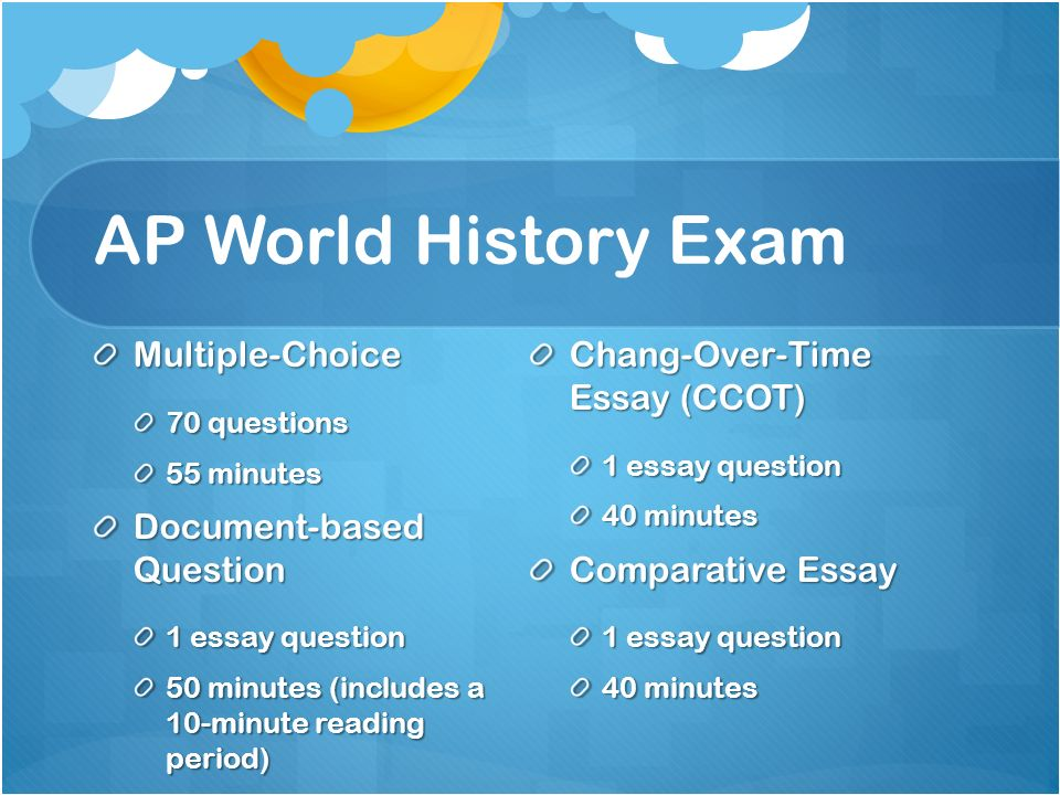 ap document based essay prompts Refining the ap world history leq prompt based on requests from ap teachers to make the wording clearer ap history long essay and document-based question.