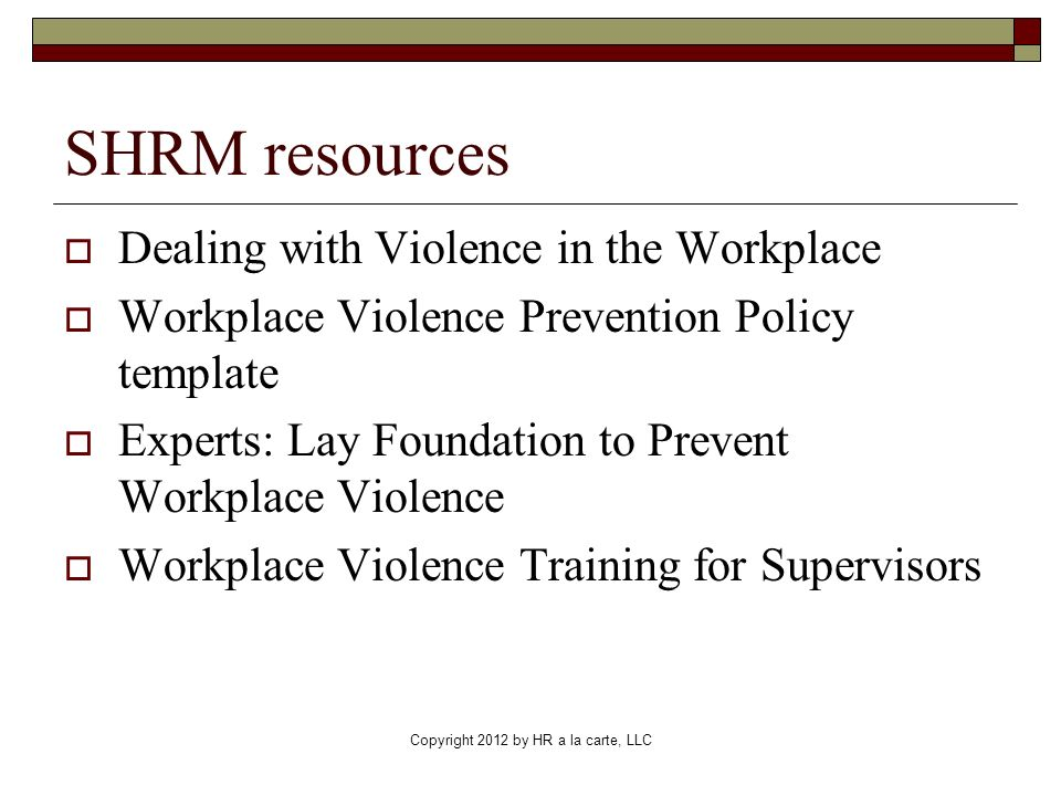 HR Workplace Violence How Security Connects to Safety HR