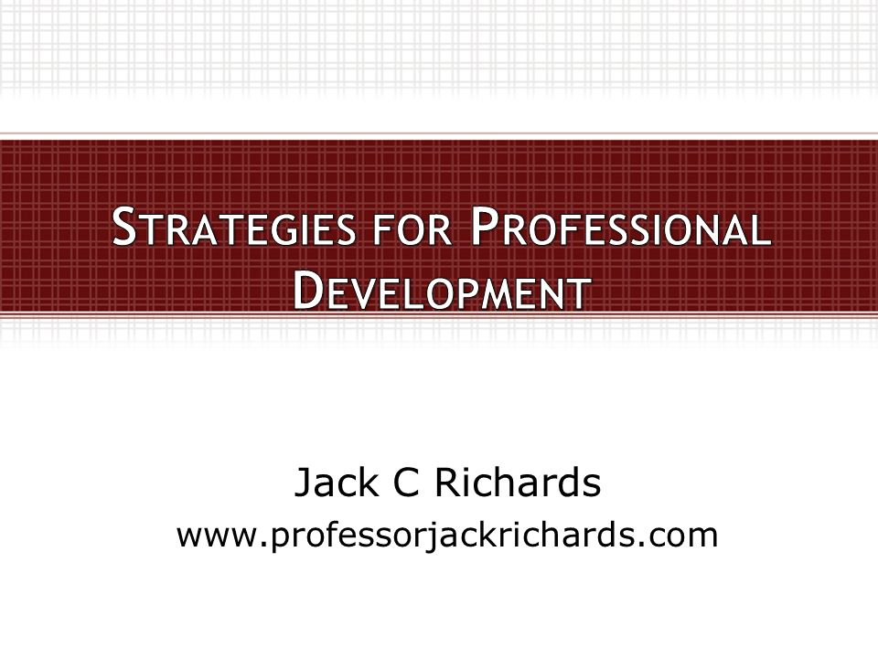Jack C Richards www.professorjackrichards.com