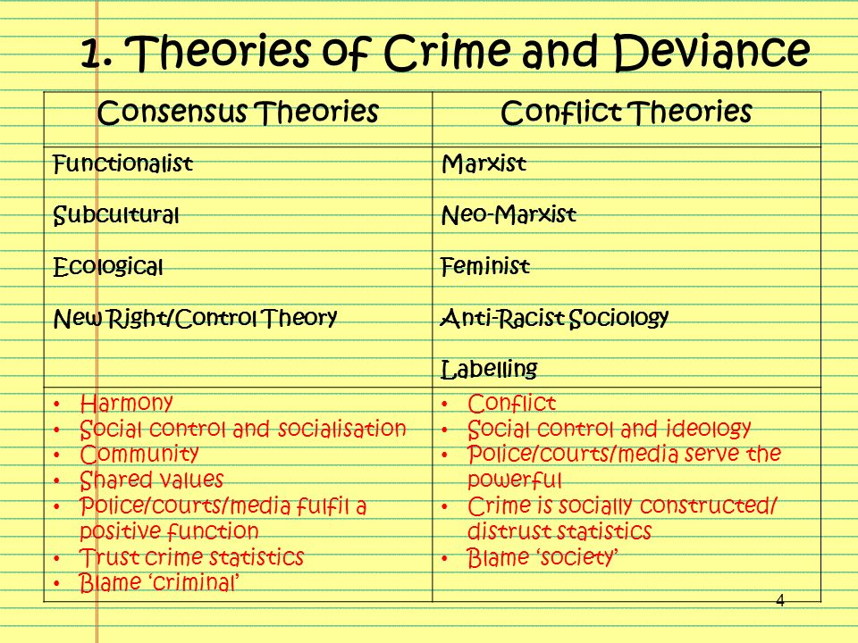 theories of crime and deviance essay