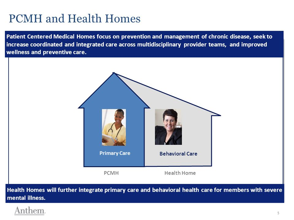 Georgia Size 28 Georgia Size 24 Calibri Size 20 NOTE: TEXT AND IMAGES IN GRAY BORDER WILL NOT PRINT AND WILL NOT BE PROJECTED PCMH and Health Homes Patient Centered Medical Homes focus on prevention and management of chronic disease, seek to increase coordinated and integrated care across multidisciplinary provider teams, and improved wellness and preventive care.