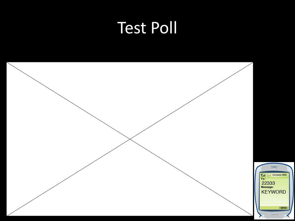 Test Poll Don't forget: You can copy- paste this slide into other presentations, and move or resize the poll.