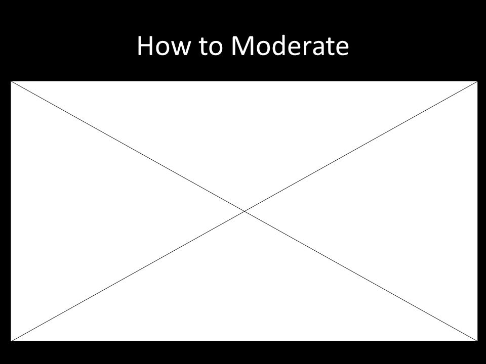How to Moderate Don't forget: You can copy- ste this slide into other presentations, and move or resize the poll.