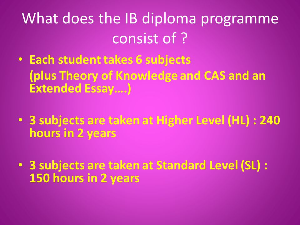 What does it take to be in the IB program?