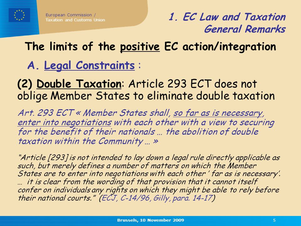 European Commission / Taxation and Customs Union Brussels, 10 November