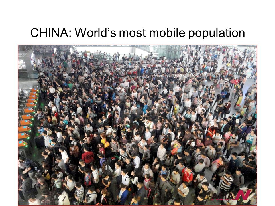 CHINA: World's most mobile population