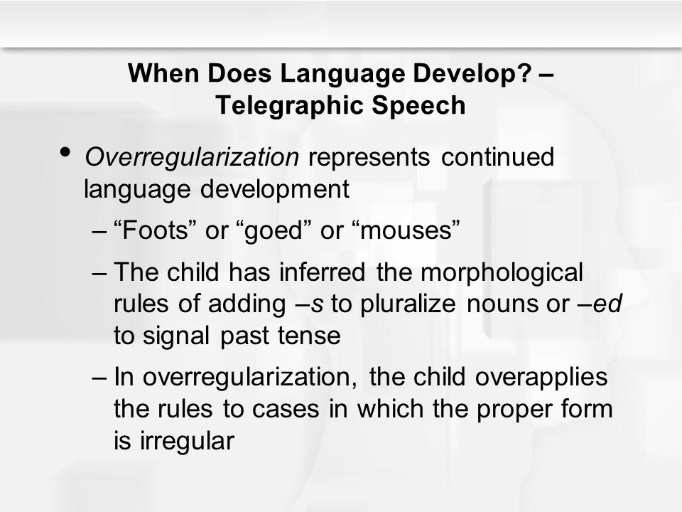 CHAPTER 10 LANGUAGE AND EDUCATION ppt download – Telegraphic Speech Example