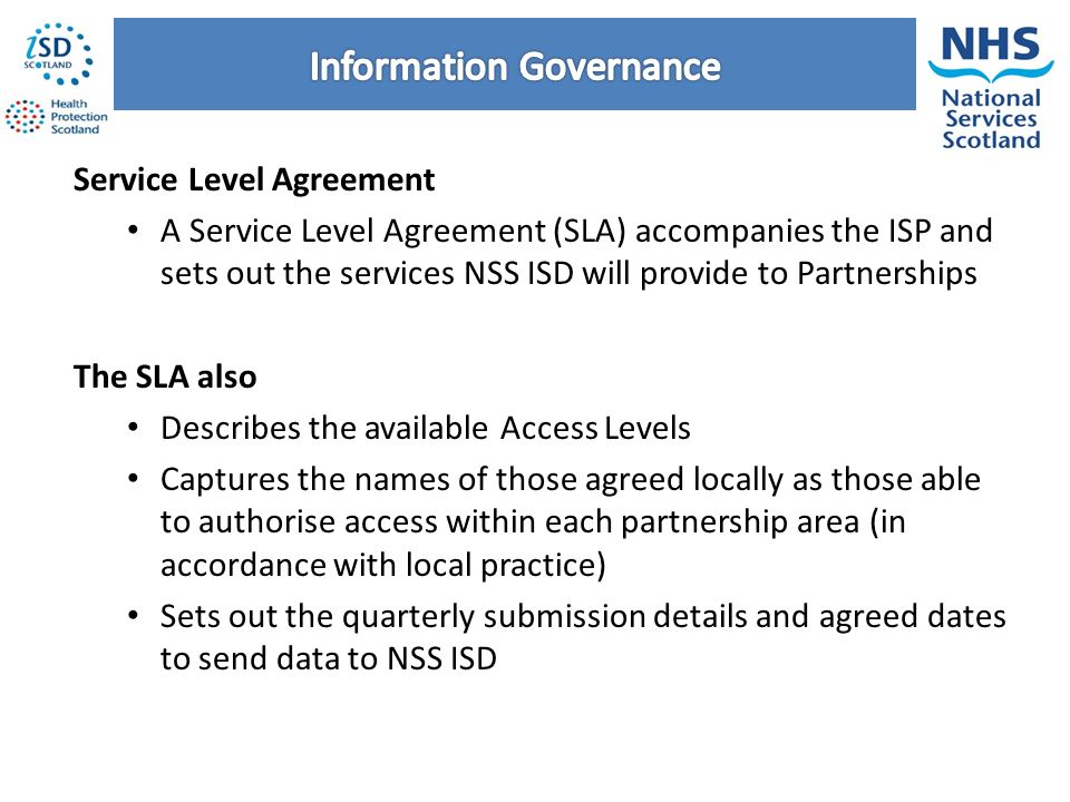 Health and social care data integration and intelligence project 54 service level agreement platinumwayz