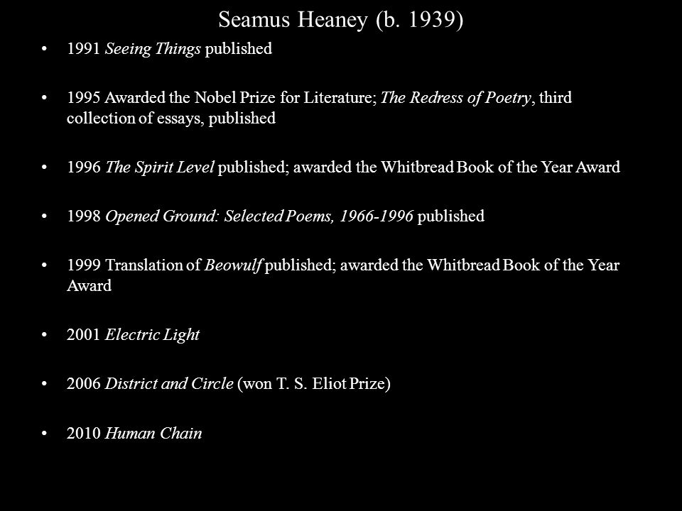 seamus heaney poems - the academy of american poets is the largest membership-based nonprofit organization fostering an appreciation for contemporary poetry.