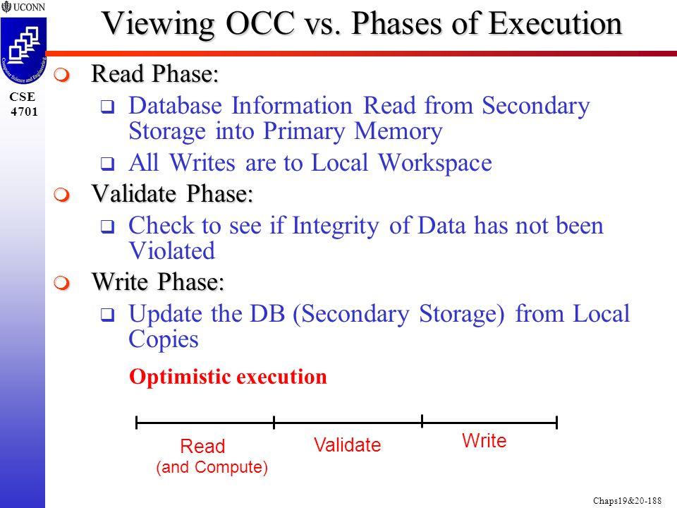 Chaps19&20-188 CSE 4701 Viewing OCC vs.