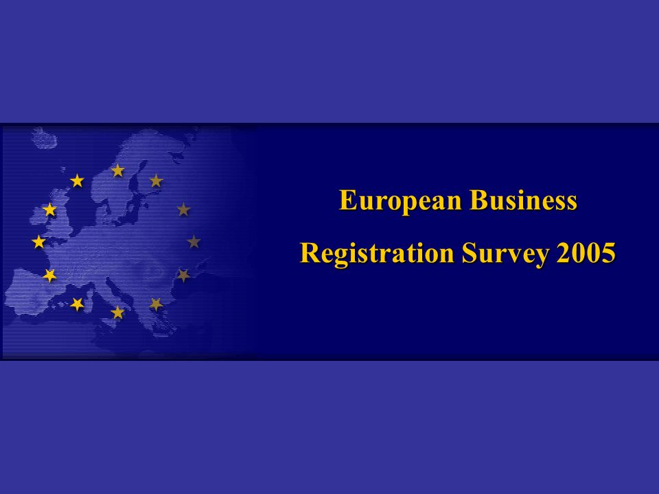 European Business Registration Survey 2005