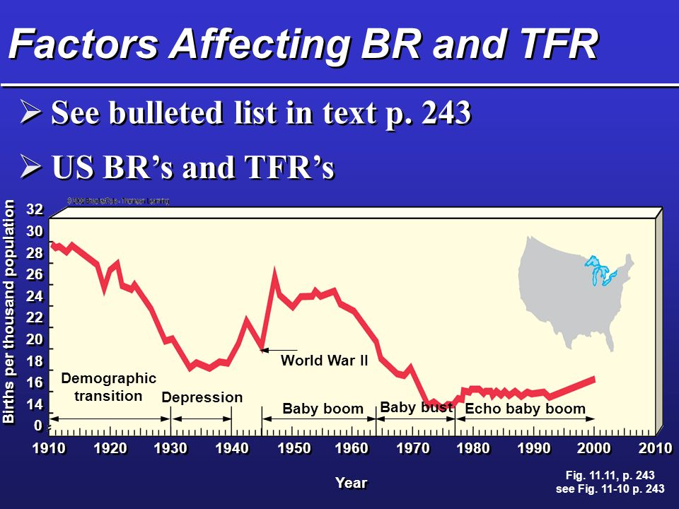 Factors Affecting BR and TFR  See bulleted list in text p.