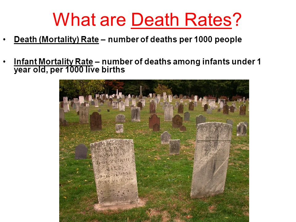 What are Death Rates.