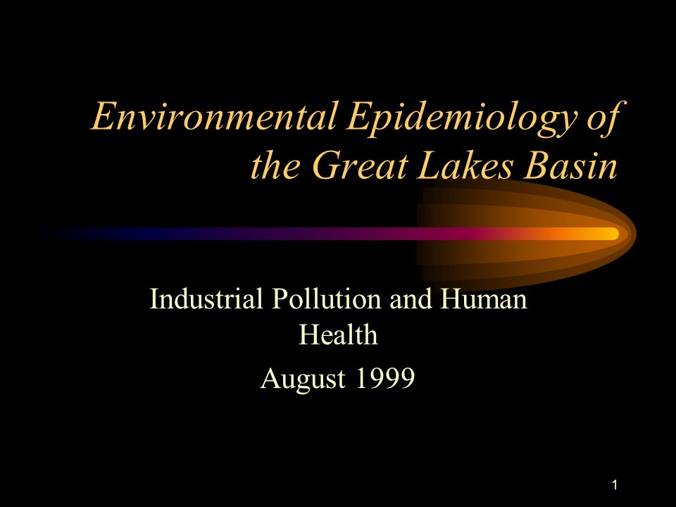 1 Environmental Epidemiology of the Great Lakes Basin Industrial Pollution and Human Health August 1999