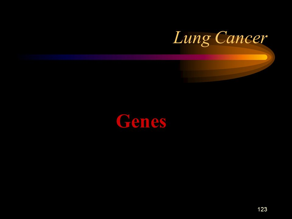 123 Lung Cancer Genes