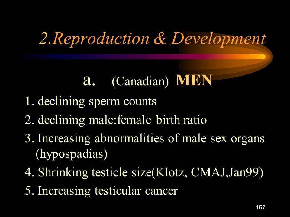 157 2.Reproduction & Development a. (Canadian) MEN 1.