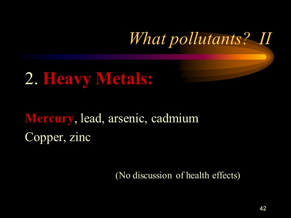 42 What pollutants. II 2.
